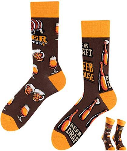 TODO Colours Lustige Socken mit Motiv - Mehrfarbige, Bunte, Verrückte für die Lebensfreude (Bierhaus Socken, numeric_43)