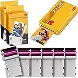 Kodak P210R Mini 2, Impresora Fotográfica Bluetooth para Móvil + 68 Fotos, Mini Impresora Pequeña De Fotos Instantáneas Tamaño 54X86Mm, Compatible con Smartphones iOS y Android - Amarillo