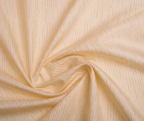 Mixibaby Übergardinenstoff in Cream Ton mit Goldenen Lametta Streifen eingearbeitet