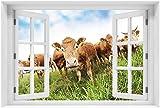 Wallario XXL Poster - Kühe im Sommer auf der Weide in