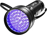LOFTEK 51 LED Lampe Torche UV de Poche Flashlight Blacklight Lumière Ultra Violet 395nm Détecteur Anti Punaise de Lit 3 Piles AA