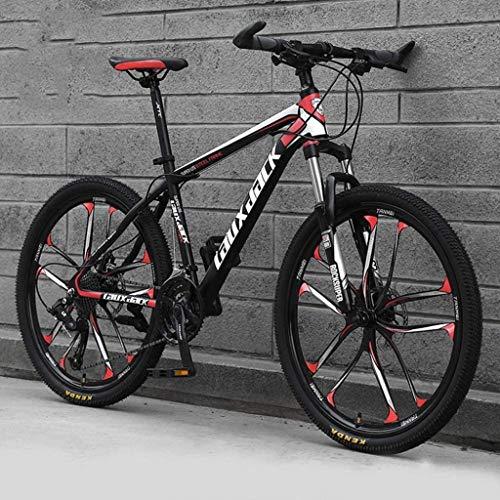 BMX 26' Mountain bike for l'adulto, il 21/24/27/30-velocità alto tenore di carbonio acciaio pieno Sospensione frame, forcella della sospensione, freno a disco Hardtail mountain bike 5-29