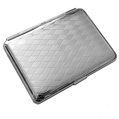 SILBERKANNE Zigarettenetui doppelseitig Frankfurt 6,5x9,5 cm Silber Plated Premium versilbert