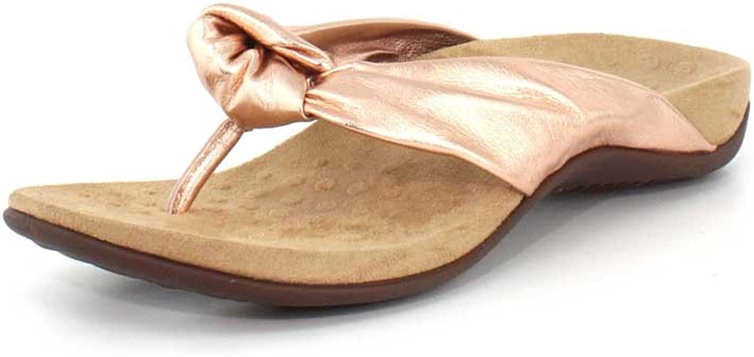 Vionic Women's Pippa Toe Post Sandals in pink gold