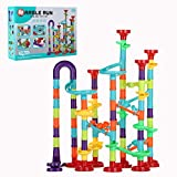 8. KSDFJ Marble Run Set for Kids 113pcs Marble Track Building Games 83 Marbulous Pieces 30 Glass Marble Colorful Marble Maze Race Track Construction Toys Learning Educational Fun for Boys 3+ Years Old