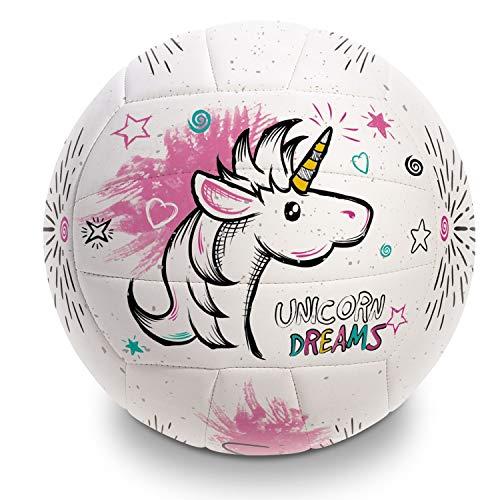 Mondo Toys - Pallone da Beach Volley UNICORN - size 5 pallavolo - 270 g - Colore bianco / rosa / fucsia - 13854