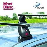 Exclusivo Mont Blanc Acero Baca/Last portaequipajes 91506559para BMW 1Series–5Puertas Hatchback Tipo (F20) con fixpunkten en el Techo–Sistema de baca Completo Incluye Candado y Llave