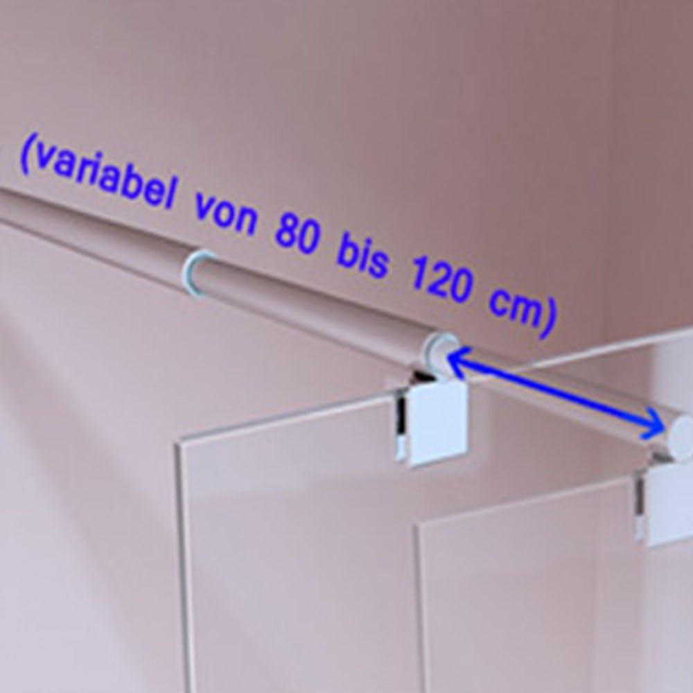 Stabilisateur Stabilisationsstange Tige Douche Verre Plafond 80-120cm HS18XXL