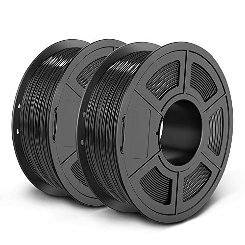 SUNLU SPLA 3D Printer Filament 1.75mm PETG-Like New Filament for 3D Printer 3D Pen, 2KG (4.4LBS) Tolerance Accuracy +/- 0.02 mm, Black+Black