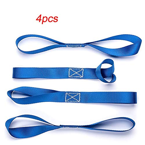 HANLING- 4Pcs Motorcycle Tie Downs Bagage Bandage Soft Riemen Slepen Ropes for Auto Motor afvoeren Belt Loops Band