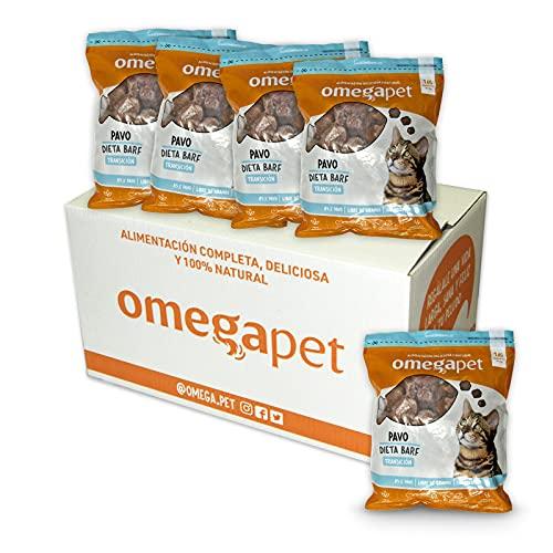 Comida para Gato Natural - Barf Pavo TRANSICION 5Kg (Pack 5 Bolsas de 1Kg c/u) - OMEGAPET