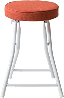 アイリスプラザ  スツール 椅子 折りたたみ オレンジ 幅約33×奥行約30×高さ約46㎝ コンパクト 軽量 耐荷重80㎏ YZ5075