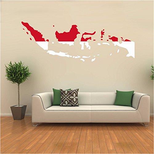 Vlag Kaart van Indonesië muur Vinyl Sticker Aangepaste Home Decoratie Muursticker Bruiloft Decoratie PVC Wallpaper Mode Ontwerp