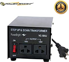 PowerBright 500 Watts Japanese Voltage Transformers, Step Up and Down Japan Converter, can be...