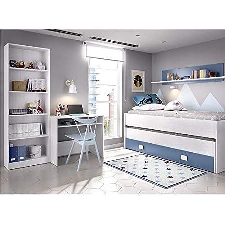 HABITMOBEL Dormitorio Juvenil Completo Cama Nido 2 cajones + ...