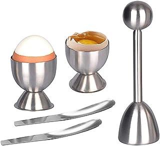 comprar comparacion AMAYGA Abridor Separador de cáscara de Huevo de Acero Inoxidable Shell Cracker para Huevos hervidos Duros/Blandos con Acce...