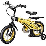 ZXYSR 16 Inch Kids Bike Bicycle with Training Wheels,Kid's Beach Crusier Bike, for Boys & Girls, Three Colors,...