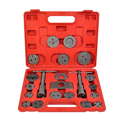 A ABIGAIL Heavy Duty Disc Brake Piston Caliper Compressor Wind Back Rewind Tool Set for Brake Pad Replacement Reset with Storage Case, Fits Most American, European, Japanese Autos