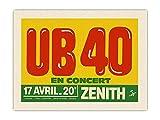 Pacifica Island Art UB 40 en conciero en el Teatro Zenith - París, Francia -...