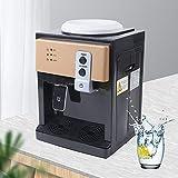 Fetcoi Dispensador de agua eléctrico de acero inoxidable de 220 V, dispensador de agua caliente y fría, para oficina, máx. 18,9 litros