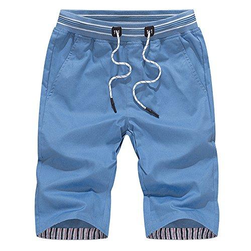 JUTOO 2019 Neue Mens Casual Shorts Badehose Schneller Sport Strand Surfen Schwimmen Wasser Hosen (Blau,XXXXL)