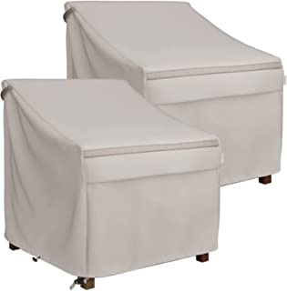 MR. COVER 38 Inch Deep Seated Patio Lounge Chair Cover, Heavy Duty Waterproof Outdoor Patio Furniture Cover, Rip-Stop and ...