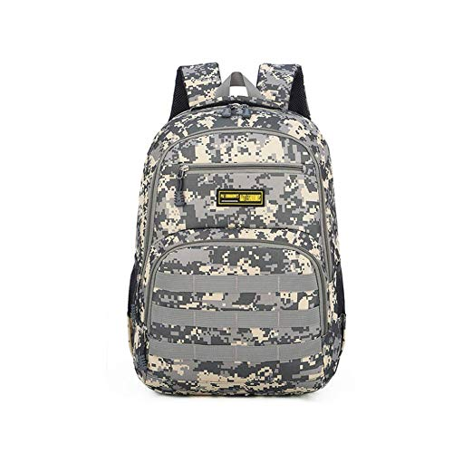 WLP-WF Backpack Leisure Camping Mountaineering Rucksack Outdoor Men Women Sports School Army Fan Waterproof Luggage Bag Lightweight,Camo-1,30L,Camo-4