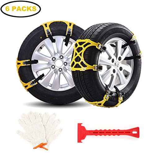 145-285mm ALAVENTE Adjustable Car Tire Snow Chains 10pcs Emergency Anti Slip Chain for Tyre Width 5.7-11.2