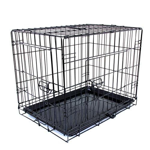 WEIMALL 犬用 ペットケージ 折りたたみ 小型犬 用 Mサイズ 60×48.5×42cm ケージ 組立簡単 持ち運び ワンち...