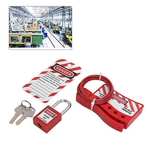 Cavo di blocco industriale, dispositivi Tagout Blocco del cavo di sicurezza di ingegneria Blocco impermeabile per attrezzature sportive per biciclette per skateboard