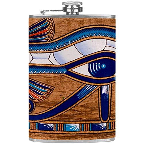Bennigiry - Petaca de acero inoxidable para hombre con diseño de ojo de Horus, a prueba de fugas