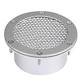 KIMISS Entrata di sfiato del paraurti della griglia della condotta dell'aria della canalizzazione universale di auto per presa d'aria fredda(argento)