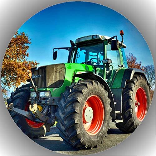 Fondant Tortenaufleger Tortenbild Geburtstag Trecker-Traktor AMA 3