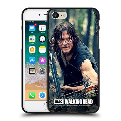 Offizielle AMC The Walking Dead Lauern Daryl Dixon Schwarze Soft Gel Huelle kompatibel mit Apple iPhone 7 / iPhone 8 / iPhone SE 2020