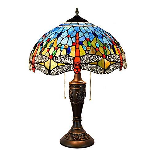 MTTK Libélula roja lámpara de Mesa de Estilo Tiffany/lámpara de Techo/lámpara de...