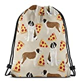 WOAIDY Drawstring Backpack, Saint Bernard Dog Breed Men Women Sports Gym Sacks Backpack Bags for Traveling Gym Yoga Beach Hiking