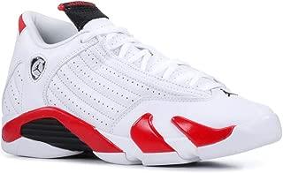 AIR Jordan Retro 14 Basketball Shoes Size 6.5 White/Black-Varsity Red