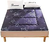 ZQW Colchón Plegable del Piso del futón, Colchón de Dibujos Animados colchón japonés futón colchón Espuma Plegable Cama Plegable Roll up Touch tounger Bed sillones (Color : A, Tamaño : 150 * 200cm)