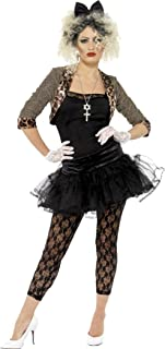 Smiffys 80s Wild Child Madonna Costume Pop Star Womens Fancy Dress Party Outfit