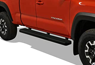 APS iBoard (Black Powder Coated 6 inches) Running Boards Nerf Bars Side Steps Step Rails Compatible with 2005-2020 Toyota Tacoma Access Cab Pickup