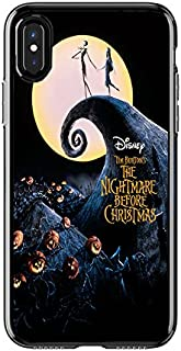 Disney's Character Stained Glass, Nightmare Before Christmas Alice in Wonderland Stained Glass TPU+PC Bumper Cases for Apple iPhone X (iPhone 10) (Nightmare Before Christmas)