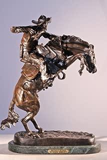 Frederic Remington Solid Bronze Bronco Buster Statue Sculpture - Mini Size