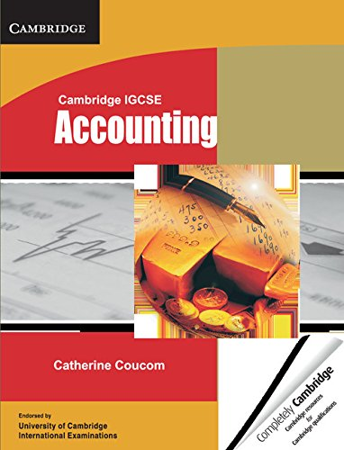 Cambridge IGCSE Accounting Student's Book (Cambridge International IGCSE)