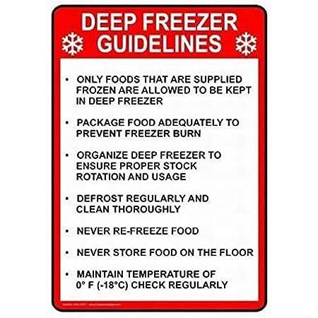 Deep Freeze Metal Sign