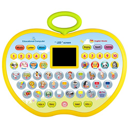 CITOY Toys Gift for 1 Year Olds Girl, Learning Toys for 1-3 Year Old Boys Baby Kids Tablet Toys for 2 Year Old Girl ToddlerApple Computer Toy for 5-6 Kid Girls Gift Age 3 4 5 Birthday Present Boy