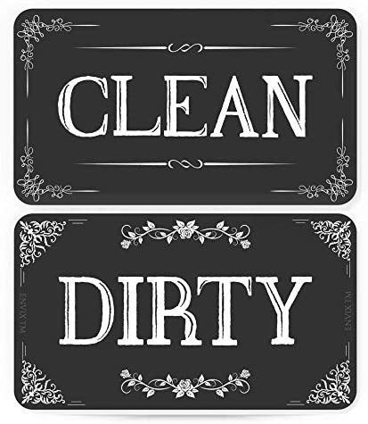 ENVIX Dishwasher Magnet Clean Dirty Sign Double Sided Magnet Flip with Magnetic Plate Kitchen product image