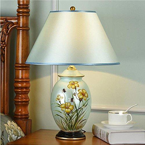 HZS Lámpara de Estilo Europeo Lámpara de cabecera de Dormitorio Lámpara de Techo Moderna de Estilo Creativo de cerámica Simple (Color : C)