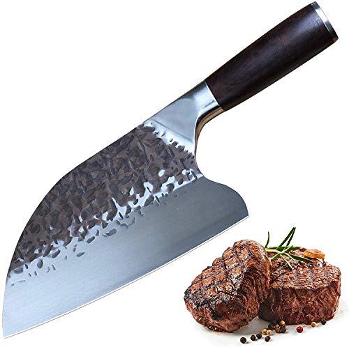 Home Safety Hackmesser Kochmesser 20cm - Chinesisches Küchenmesser - Hackbeil Zerhacker, Deutsch Hochgekohlter Edelstahl mit Geschenkbox für Küche & Restaurant