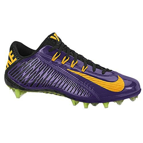 Nike Vapor Carbon Elite TD Mens Football Cleats (13 D(M) US, Purple/Black/Yellow)
