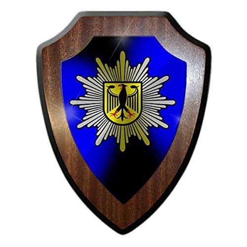 Copytec Wappenschild BPOL TYP2 blau Bundespolizei Grenzschutz Deutschland Wappen Abzeichen Andenken GSG9#21436